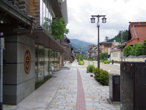 山中温泉の街並み