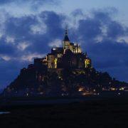 モン・サン・ミッシェルの夜景