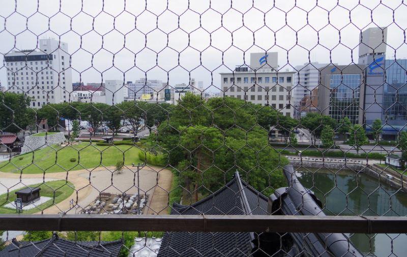 富山城東方向の眺め