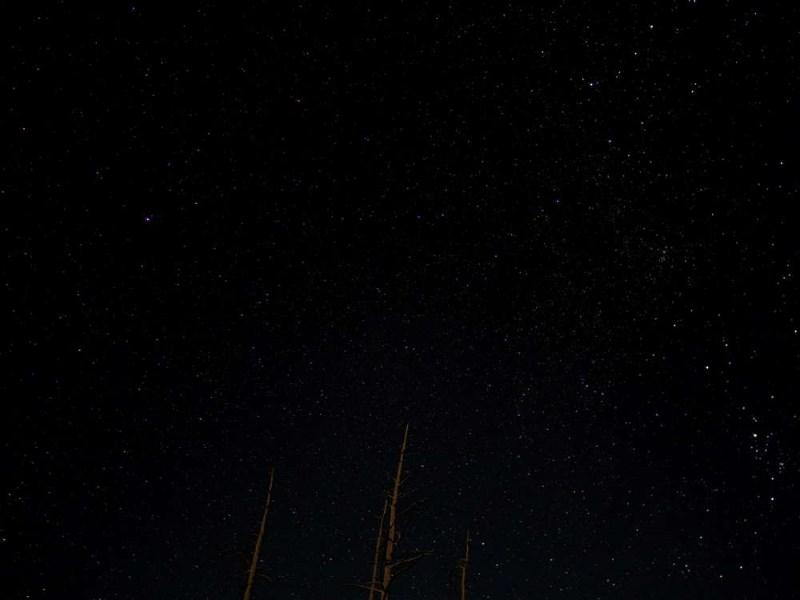 イエローストーン国立公園の夜景
