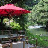 鶴仙境の川床