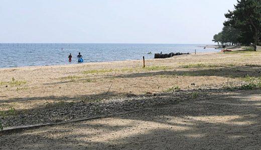奥琵琶湖の絶景と綺麗な水、設備も整ったマキノサニービーチ