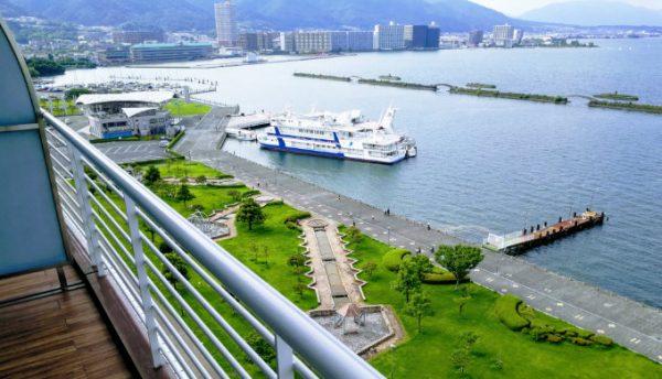 琵琶湖ホテルからの眺望