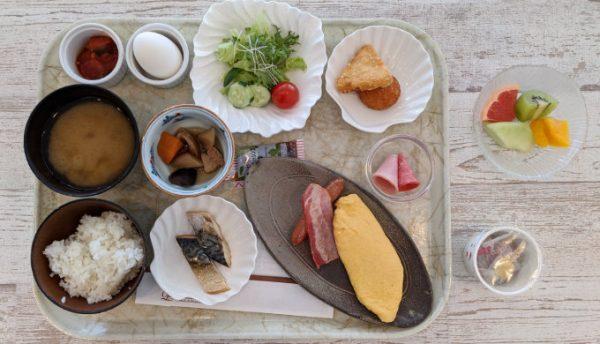 琵琶湖大津プリンスホテルの朝食の例
